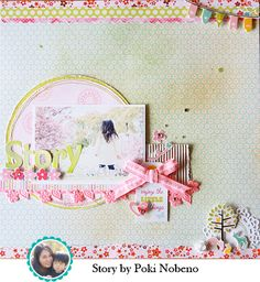 I saw this gorgeous layout from Poki Nobeno on the American Crafts blog