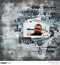 Kaisercraft Indigo Skies A masculine twist with Kaisercraft. Mixed Media Scrapbooking, Scrapbooking Layouts, Scrapbook Stickers, Scrapbook Albums, Blue Palette, Thing 1, Scrapbook Embellishments, Scrapbook Sketches, Layout Inspiration