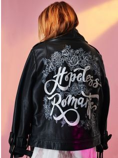 44ee6092a22 Hopeless romantic leather bridal jacket. Houghton NYC. How bridal jackets  got cool.