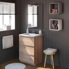 DISCOVERY mueble de 60 de pie con lavabo cerámico por 260€