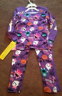 Joe Boxer Toddler Girls Halloween Pajama Sets NWT Size 5T…