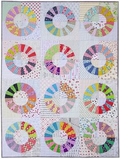 Scrappy Color Wheel Block Quilt (via Bloglovin.com )