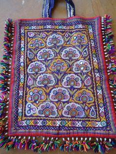 katchi mirror work bag/hand embroidery by jaisalmerhandloom, $65.00