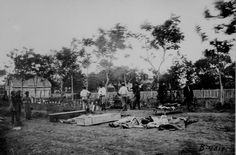 Civil War Photos - 76. Burying the Dead After the Wilderness Campaign - Fredericksburg, VA, May 1864