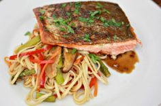 Crispy Honey Soy Glazed Salmon