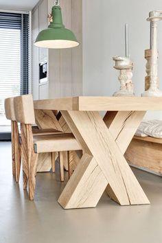 дневник дизайнера: Большой деревянный стол в центре внимания! 20 картинок для вдохновения