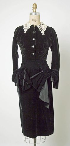 Dress Jacques Fath (French, 1912–1954) Design House: House of Jacques Fath (French, founded 1937) Date: 1949