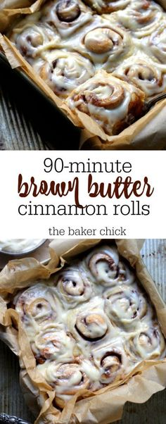 Brown Butter Cinnamon Rolls Create Perfect Melt In The Mouth Dinner Rolls Cooking with yea Dessert Design, Brunch Recipes, Dessert Recipes, Delicious Desserts, Yummy Food, Dessert Simple, What's For Breakfast, Breakfast Pastries, Homemade Breakfast