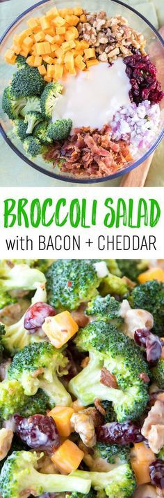 ***Broccoli Salad with Bacon and Cheddar Recipe. LUUUV this!!