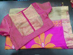 Best 12 Back neck line Cotton Saree Blouse Designs, Simple Blouse Designs, Blouse Back Neck Designs, Cut Work Blouse, Blue Silk Saree, Designer Blouse Patterns, Blouse Models, Blouses, Siri