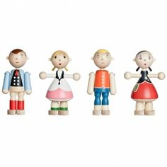Toto wooden dolls by Artek. Designed by Kaj Franck.