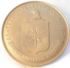 Vintage 1970s Bronze Medal CIA Central Intelligence Agency Honorable Service