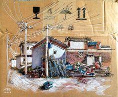 Beautiful Illustrations on Discarded Cardboards – Fubiz Media