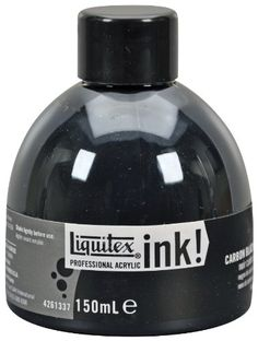 Liquitex Professional Acrylic INK! 5.1-oz Jar,  Carbon Black Liquitex,http://www.amazon.com/dp/B004RGINNE/ref=cm_sw_r_pi_dp_TLc.sb11B7MTV11B