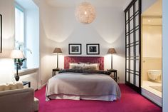 #styling #homestyling #bedroom #sovrum #pink carpet #rosa heltäckningsmatta