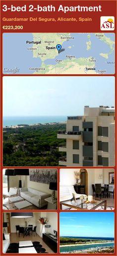 3-bed 2-bath Apartment in Guardamar Del Segura, Alicante, Spain ►€223,200 #PropertyForSaleInSpain