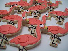 Flamingo cookies by jillfcs