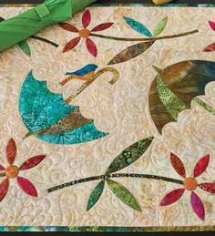 Dancing Umbrella by Edyta Sitar | Laundry Basket quilts | Accuquilt die