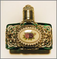 Large Vintage Perfume Bottle Czech Grande Baroque by RalucaElf, $95.00