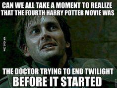David Tennant, Doctor Who, Twilight, Harry Potter