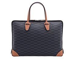 Louis Quatorze Men's Brief Case Bag Nice Homme MK3NH02BL Cowhide PVC Black