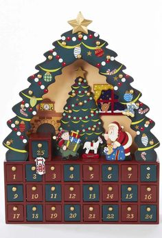 Wooden Christmas Tree Advent Calendar at BBC Shop
