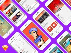 UI Kit forMusic App #mobile #freebie