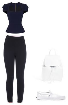 """Untitled #8"" by maria-cristina-rodriguez on Polyvore featuring Roland Mouret, Dolce&Gabbana, Vans and Mansur Gavriel"