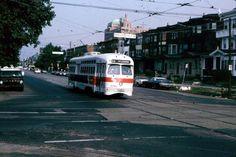 SEPTA PCC on Rt.53 at Erie&York Rd. Phila.1984