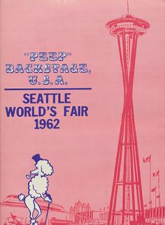"""""""Peep"""" Backstage U.S.A. (Back Cover) - 1962 Seattle World's Fair by The Pie Shops Collection, via Flickr"""