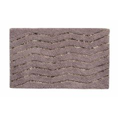"Ess Ess Exports Artesia Bath Rug Color: Gray, Size: 21"" W x 34"" L"