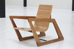 Dynamic Slanted Chair and Table
