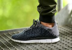 Nike Free Inneva Woven-Anthracite-White-Dark Grey-1