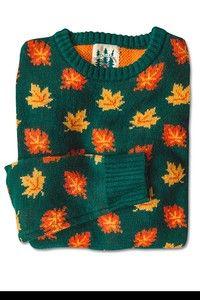 The Big Cozy Fall Leaf Sweater – Kiel James Patrick Estilo Converse, New England Fall, Look Retro, Cozy Sweaters, Vintage Sweaters, Mode Style, Sweater Weather, Aesthetic Clothes, Knitwear