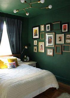 Decke und wand in grün. gruene-Wandfarbe-Tipps-Anna-von-Mangoldt-apartmenttherapy.com www.decohome.de