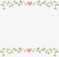 Love pink flower border PNG and Vector Cartoon Background, Background Pictures, Paper Background, Wallpaper Powerpoint, Background Powerpoint, Frame Floral, Flower Frame, Flower Backgrounds, Colorful Backgrounds