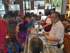 Visitors at the Wisdom Hall souvenir shop at Kechara Forest Retreat