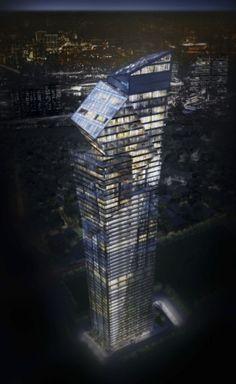 Armani Casa arreda il Century Spire, progetto di Libeskind, a Makati, Filippine.