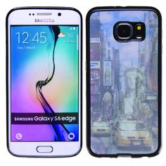 Statue of Liberty 3D Hologram TPU phone case skin for Samsung Galaxy S6 Edge
