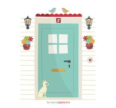Behind the door.: Every door has a key, you only have to rummage through your pockets.