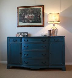 Vintage Painted Buffet on Etsy, $825.00