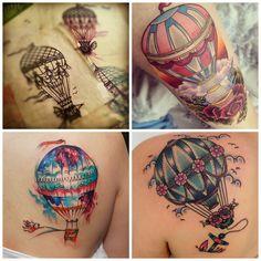 tattoo retro balão - Pesquisa Google