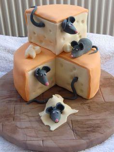 Les souris sur le fromage en fondant