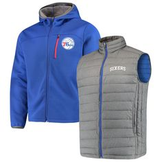 29404c4f0 Philadelphia 76ers G-III Sports by Carl Banks Cold Front 3-In-1 System  Full-Zip Vest   Jacket Set - Royal