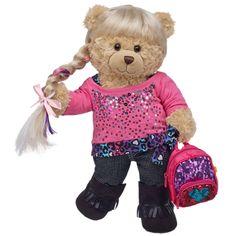 Fashionable Friend Happy Hugs Teddy - Build-A-Bear Workshop Teddy Bear Images, Teddy Bear Cartoon, Boyds Bears, Teddy Bears, Bear Gallery, Build A Bear Outfits, Rodeo Girls, Bear Shop, Teddy Bear Clothes