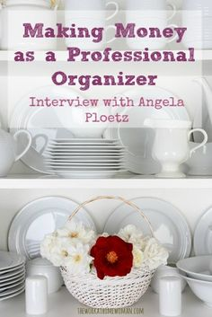 Do you want to work at home as a Professional Organizer? Get the inside scoop from Angela Ploetz! via The Work at Home Woman