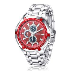 Silver Steel Luxury Business wristwatches Men's Casual watch relogios masculinos ECA LISTING BY StreakTronics, Chennai, Tamil Nadu, India