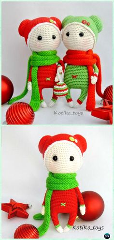 Amigurumi Crochet Christmas Holiday Doll Free Pattern - Crochet Doll Toys Free Patterns