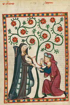 Manesse Codex - (1300 - 1340) Der Alte Meissner
