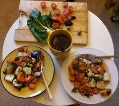 Veggie dinner & heart-warming tea